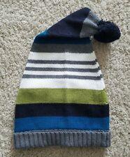 Gymboree Boys Sz 8 and Up Striped Winter Pom Pom Hat Cap ~