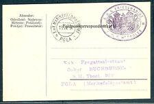 1917, Hungary Naval card, ship 'HERKULES' purple cxl