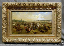 "19th Century Military Painting War Battlefield: ""Bataille de Gravelotte"""