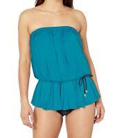 Maxine Of Hollywood Womens Swimwear Blue Size 12 Multi-Way One-Piece $138 443