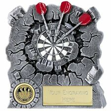 A1553C X 12 RESIN DARTS TROPHIES, SIZE 12CM, FREE ENGRAVING