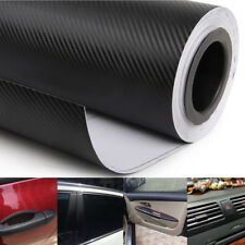 40x100cm 3D Matt Black Carbon Fiber Car Vinyl Foil Film Wrap Roll Sticker Decal