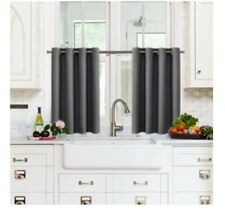 """X2! NICETOWN Kitchen Blackout Window Valance Thermal Insulated Grey 52""""x24"""""""