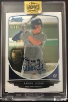 AARON JUDGE 2017 Topps Archives Signature Series Auto 2013 Bowman Chrome #/25