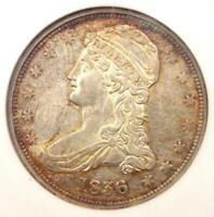 1836 Reeded Edge Capped Bust Half Dollar 50C Coin - NGC AU55 - $6,250 Value!