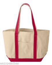 Peaches Pick 16 oz XL 100% Heavy Cotton Canvas Boat Tote Beach Swim Picnic Bag