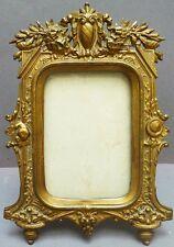 Superbe cadre porte-photo en bronze avec verre  19e siècle photo frame