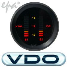 VDO DIGITAL DUAL BATTERY VOLTS GAUGE TOYOTA LANDCRUISER 60 70 75 80 100 SERIES
