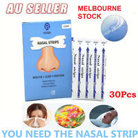 30Pcs Stop Snoring Nasal Strips to Breathe Better Easy Right Anti Snore Strip✔AU