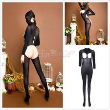 Women Lingerie Masked Cupless Long Bodystocking Nightwear Open Butt Sleepwear