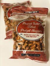 2 X Trader Joe's Peanut Butter Filled Pretzel Nuggets, No Salt Pretzels 1 LB Bag