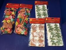 5 Packs Christmas House Visions of Sugar Plums Ornaments & Garland Frosted