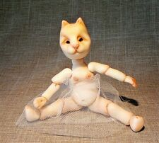 Porcelain OOAK BJD.Animal 4,3 inches.Hand made art doll by Olga Neprel