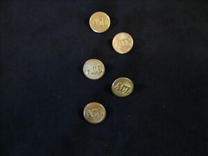 5 Vintage ACL Atlantic Coast Lines Jacket or Coat  Buttons