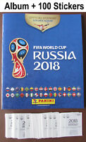 Panini Russia WORLD Cup 2018: Empty Album + 100 Stickers Binder Sticker Book NEW