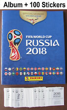 Panini Russia WORLD Cup 2018: Empty Album + 100 Stickers Binder Sticker Book NEW