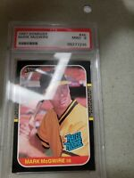 1987 DONRUSS #46 MARK MCGWIRE ROOKIE CARD RC PSA 9 MINT