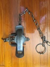Vintage Victor 1 1/2 Coil Spring Double Jaw Steel Trap
