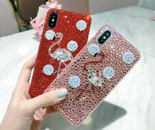Sparkle Bling Flamingo Phone case Glitter Rhinestones For iPhone, Samsung