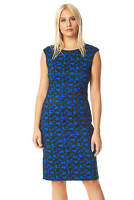 Roman Originals Women Abstract Print Textured Fitted Dress