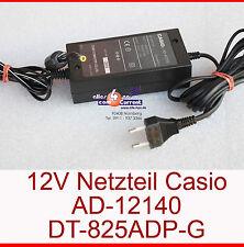 12v 1,4 a fuente de alimentación Casio ad-a12140 dt-825adp-g enchufe con pin en el centro-n13