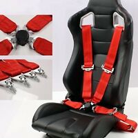 3'' 4 Point Car Racing Bucket Seat Belt Safety Harness Quick Release Fixing New