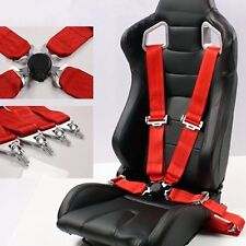 "3"" 4 point Car Racing Bucket Seat Belt Safety Harness Quick Release Fixing New"