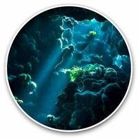 2 x Vinyl Stickers 7.5cm - Underwater Cave Scuba Diving Cool Gift #14007