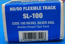 HO Scale  PECO STREAMLINE SL-100 Code 100 NS 3' Flex Track w/Wooden Ties 25-pack