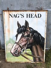 More details for nags head genuine vintage pub sign bar  mancave double sided only fools horses