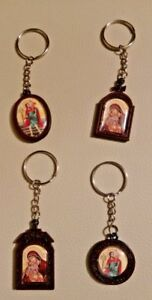Miniature Orthodox Key Ring 2 motive with Byzantine Icons more motives
