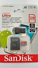 SanDisk Ultra Micro SDXC UHS-I Card With Adapter + USB 2.0 Reader 128GB Class 10