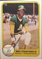 1981 Fleer #351 Rickey Henderson Baseball Card NM