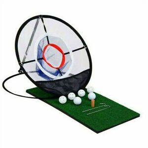 Practice Outdoor Training Net Golf Chipping Pop-up Pitching Portable Aid Net Bag