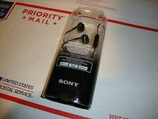 Sony Headphones Earphones Hands-Free Phone Calls Microphone Black Android NEW