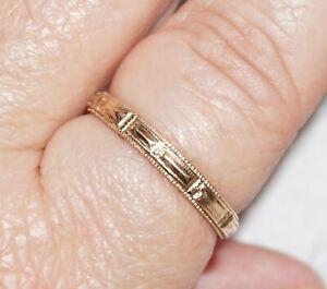 VINTAGE MENS WEDDING BAND RING 1/20 12K GOLD FILLED GF SIGNED  Size 12