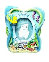 """Disney The Little Mermaid 3D Resin Picture Frame Flounder Sebastian 4x6"""" Photo"""