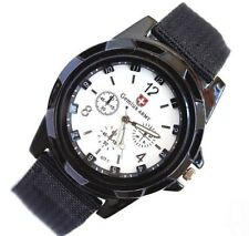Men's Watch Wristwatch Military Analog Sport Army Quartz Canvas Strap Men Gifts