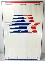 Los Angeles 1984 23rd Olympic Games Framed Poster Robert Miles Runyan Signed