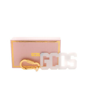 GCDS Logo Keyring Two Tone Transparent Charm Clasp HANDMADE in Italy