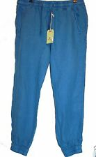 Jetlag Blue Men's Linen Stylish Stretch Pants Sz 2XL NEW