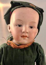 "11"" Antique German Bisque Shoulder Head Soldier Boy Doll! Heubach 6692 18017"