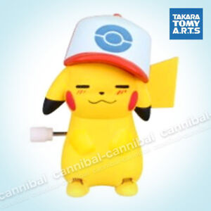 ~ POKEMON - white knob windup walker - Takara Tomy gashapon - wind up PIKACHU (d