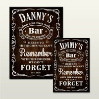 Large Personalised Beer Whiskey Bar Drink Gift Wooden Hanging Plaque Sign