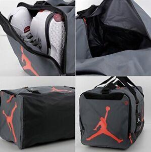 New Air Jordan Jumpman Duffel Bag Large Travel Gym Carry Bag Black Grey Red