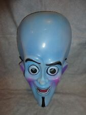 SUPERVILLAIN MEGAMIND HALLOWEEN PVC MASK CHILD SIZE BLUE MASK