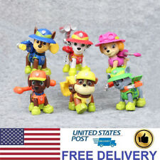 6 PCS Paw Patrol Jungle Rescue Action Figures Cute PVC Dog Decoration Kids Toys