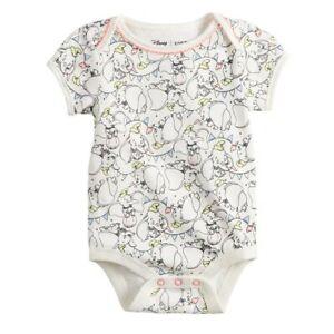 NWT Disney Dumbo Baby Girls Short Sleeve Bodysuit 24 Months