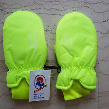 INVICTA fluo vintage muffole guanti NOS gloves ski winter padded thermore