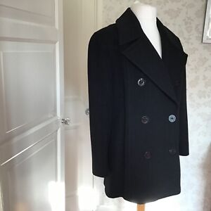 Jones New York Pure wool Black jacket lined size 16 beautiful condition